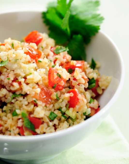 Couscous Salat mit Tomaten und Feta